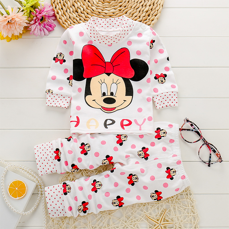 Baby Clothing Sets 0-24M Autumn Baby girs Clothes Infant cotton girls clothes Tops +Pants 2pcs underwear Outfits kids clothes Se