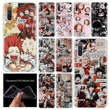 Gorący mój bohater Academia Manga telefon skrzynki pokrywa dla Xiaomi Redmi uwaga 9S 8T 9 8 7 6 6A 7A 8A 9A 4X K20 K30 S2 Pro dostosuj miękkie Coq