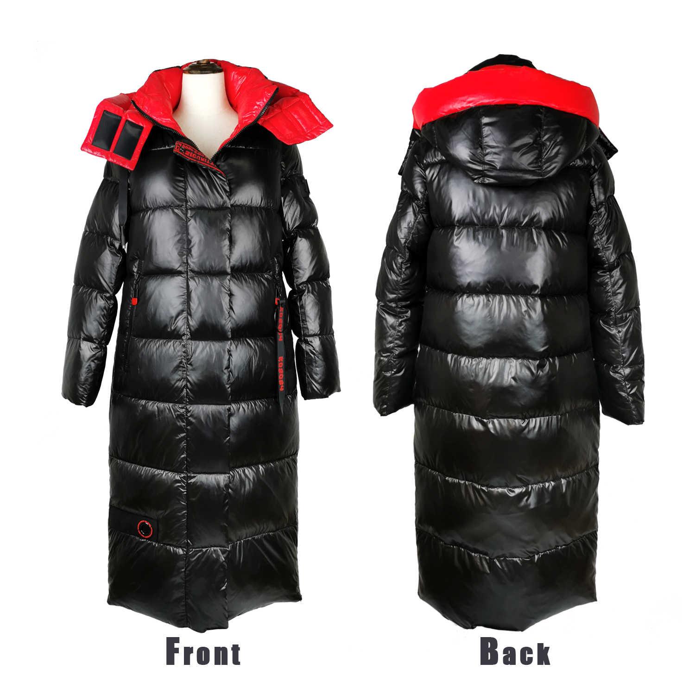 HADAVOE2019 ホットコートジャケット冬の女性のフード付き暖かいパーカーハイト品質女性新しい冬コレクションファッショナブルな暖かいコート