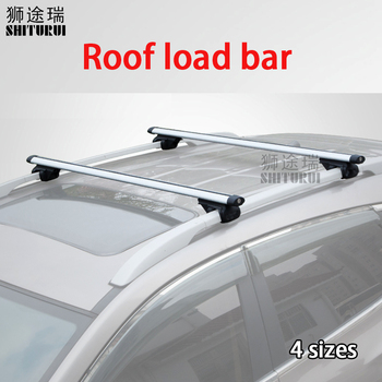 Universal 135CM Car Roof Racks Cross Bars Crossbars 75kg 150LBS For VW Atlas Tiguan Touareg Golf VII Variant Sharan Tiguan image