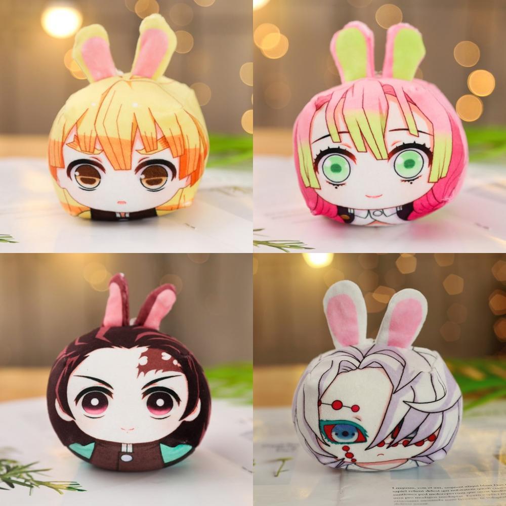2019 Anime Demon Slayer Kimetsu No Yaiba Kamado Tanjirou Kamado Nezuko Mini Plush Doll Dango Stuffed Pendant Toys Xmas Gift
