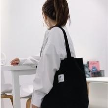 Grocery Tote Handbag Eco-Friendly Lightweight Foldable MABULA Corduroy Casual High-Quality