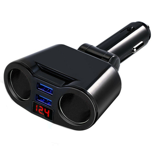 Dual USB Car Charger With 2 Wa