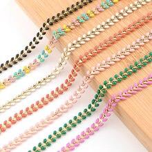 Sauvoo óleo gota trigo forma link correntes colar ouro cobre corrente design jóias acessórios/jóias achados & componentes