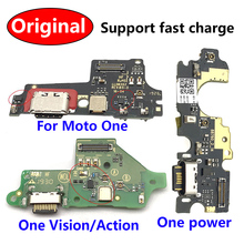 USB Charging Port Dock Charger Charge Connector Flex Cable For Motorola Moto One Vision / One Action Macro Fusion Hyper Power
