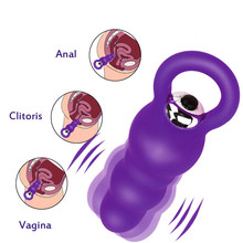 Anal sex toys vibrator butt plug silicone for Women Sex Anal Bead Plug Vibrator Silicone Butt Plug Erotic Anal Toys For Gay H5 cheap STNHOG Wand 105X 35mm Anal sex toys vibrator butt plug silicone for Women prostate Vibrators