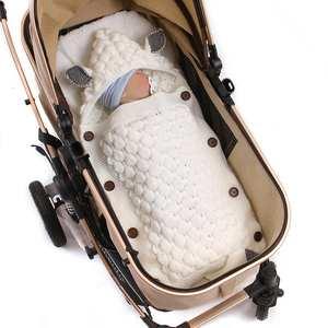 Envelopes Swaddle Stroller Sleepsacks Cocoon Knitted Bebes Baby Newborn Cartoon Infantil