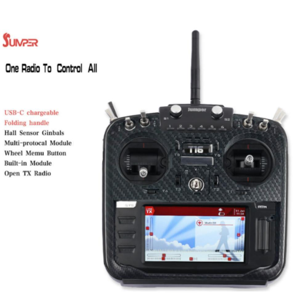 Jumper T16 Pro Hall V2 NEW Gimbal Open Source Multi-protocol Radio Transmitter JP4-in-1 RF Module 2.4G 16CH Remote Controller