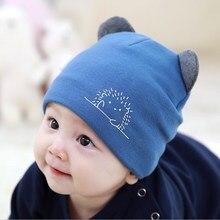 Cute Baby Boy Girl Autumn Winter Home Outdoor Hats Cotton Soft Warm Kid Hat Lovely Animal Print Baby Hat стоимость