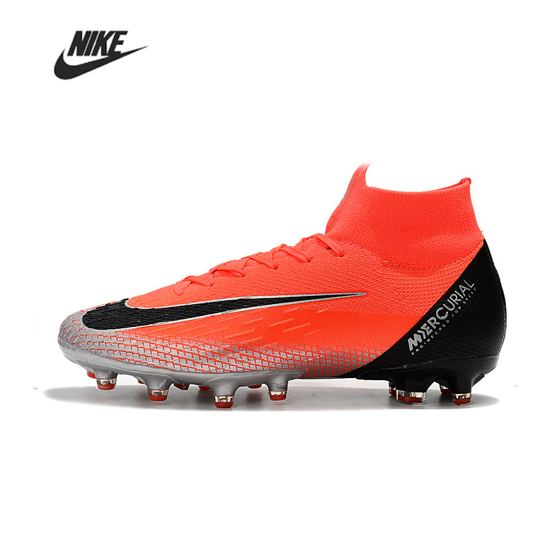 Nike Mercurial Superfly VI Elite CR7 AG Men Football Bootss Training Football Boots High Ankle Sport Soccer Sneakers AGH01