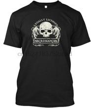 Camiseta camiseta sem etiqueta do necromante