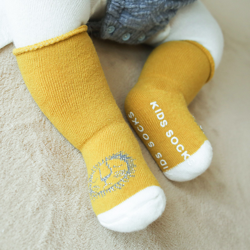18 Autumn & Winter New Style Thick Looped Pile Baby Socks Anti-slip Dispensing Baby Boots  Newborns Floor Socks Children