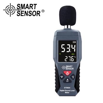 Cyfrowy miernik poziomu dźwięku detektor hałasu Monitor hałasu przyrząd pomiarowy 30-130dB Metro miernik decybeli dźwięk alarm świetlny tanie i dobre opinie SMART SENSOR 30 ~ 130dB ST9604 1 2 inch Condenser Microphone 30~130 dBA ±1 5dB 31 5HZ~8 5KHZ 4 digits 0 1dB According to IEC651 TYPE 2 ANSIS1 4 TYPE 2