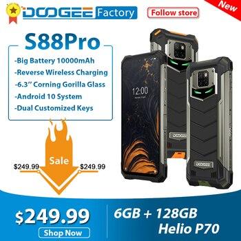DOOGEE S88 Pro IP68/IP69K Rugged Mobile Phone 10000mAh 6.3'' FHD+ smartphone Helio P70 Octa Core 6GB 128GB Android 10 telephones