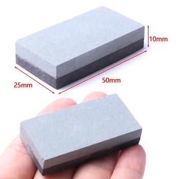 1 Uds Mini piedra de afilar de doble cara 50*25*10 carburo de silicona mm 400 #, carburo de boro 800 #, piedra rubí 3000 # para moler fino y áspero