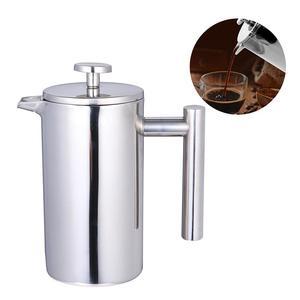 Image 3 - 350/800/1000ML kahve kapları çift katmanlı paslanmaz çelik kahve ve çay makinesi fransız basın ısı koruma kupa