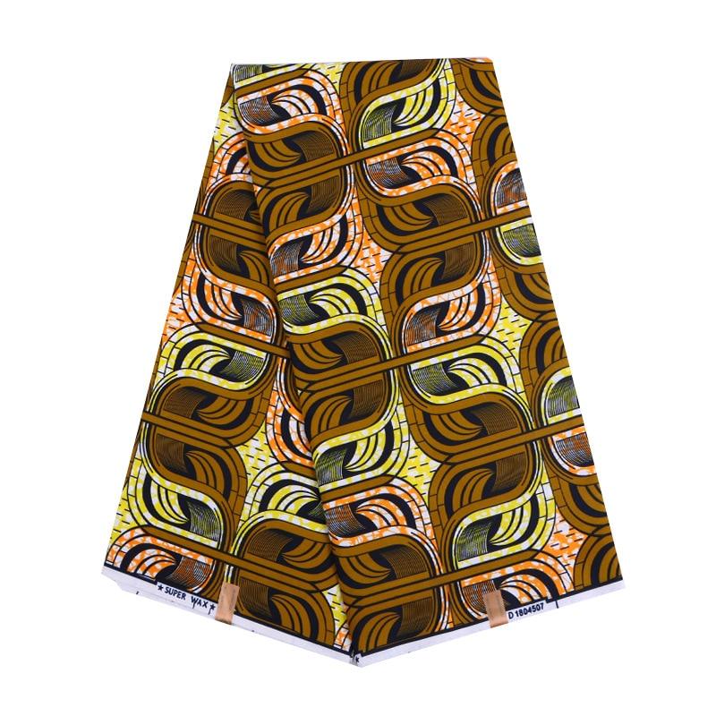 2019 Wax Fabric African Wax Print Fabric Nigeria Veritable Ankara Real Dutch Wax 6Yards\set