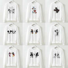 Cartoon Mouse Creative Printing Sweatshirts Hoodies Women Long Sleeve Tracksuit Female Sweater Casual Basic Pullovers Tops