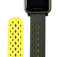 الأصلي الرياضة حزام ساعة اليد ل شاومي Huami Amazfit بيب لايت ساعة ذكية GTS GTR (42 مللي متر)