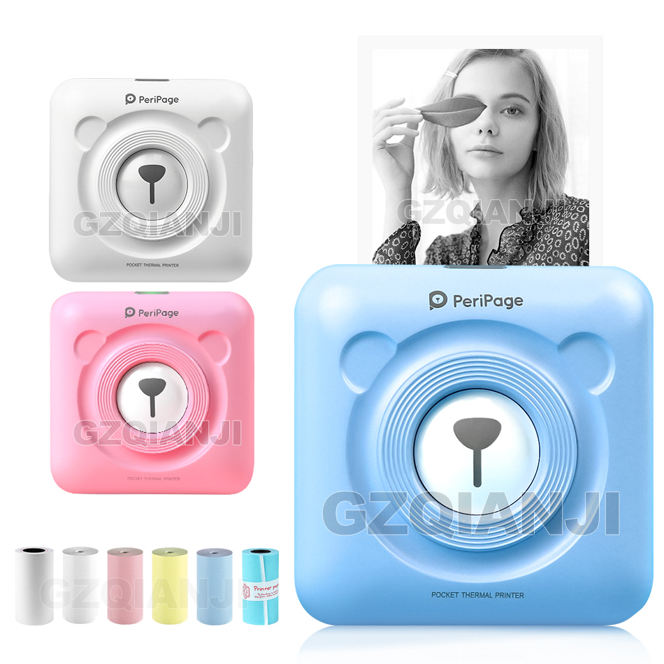 Portatile Bluetooth Photo Picture Stampante 58 millimetri Mini Connessione Wireless Tasca Peripage Stampante Per I Bambini Bambini Regali Di Natale title=