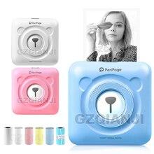 Taşınabilir Bluetooth fotoğraf resim yazıcı 58mm Mini kablosuz bağlantı cebi Peripage yazıcı çocuklar çocuklar için yılbaşı hediyeleri