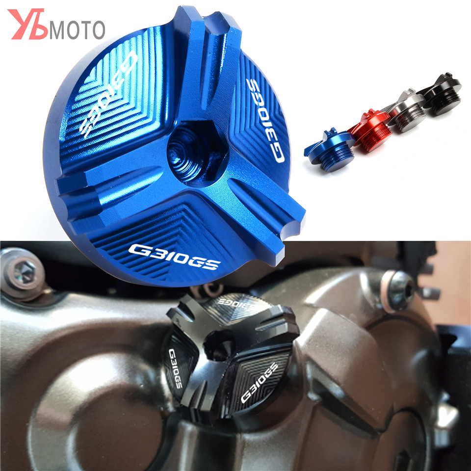 For BMW S1000R S1000RR S1000XR HP4 Race G450X <font><b>G310R</b></font> G310GS Motorcycle Accessories Engine Oil Drain Plug Sump Nut Cup Plug Cover image