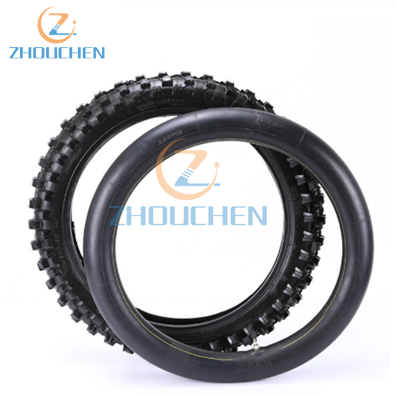 High Quality Rear <font><b>110</b></font>/<font><b>90</b></font>-18 <font><b>110</b></font> / <font><b>90</b></font> - 18 Tire Tyre with inner Tube for Motorcycle Dirt Pit Bike Motocross Trail image