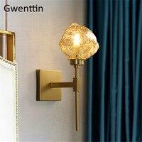 Vidro moderno conduziu a lâmpada de parede espelho luz luzes parede para decoração casa loft arandelas sala estar quarto banheiro luminárias