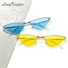 Longkeeper модные винтажные женские солнцезащитные очки кошачий