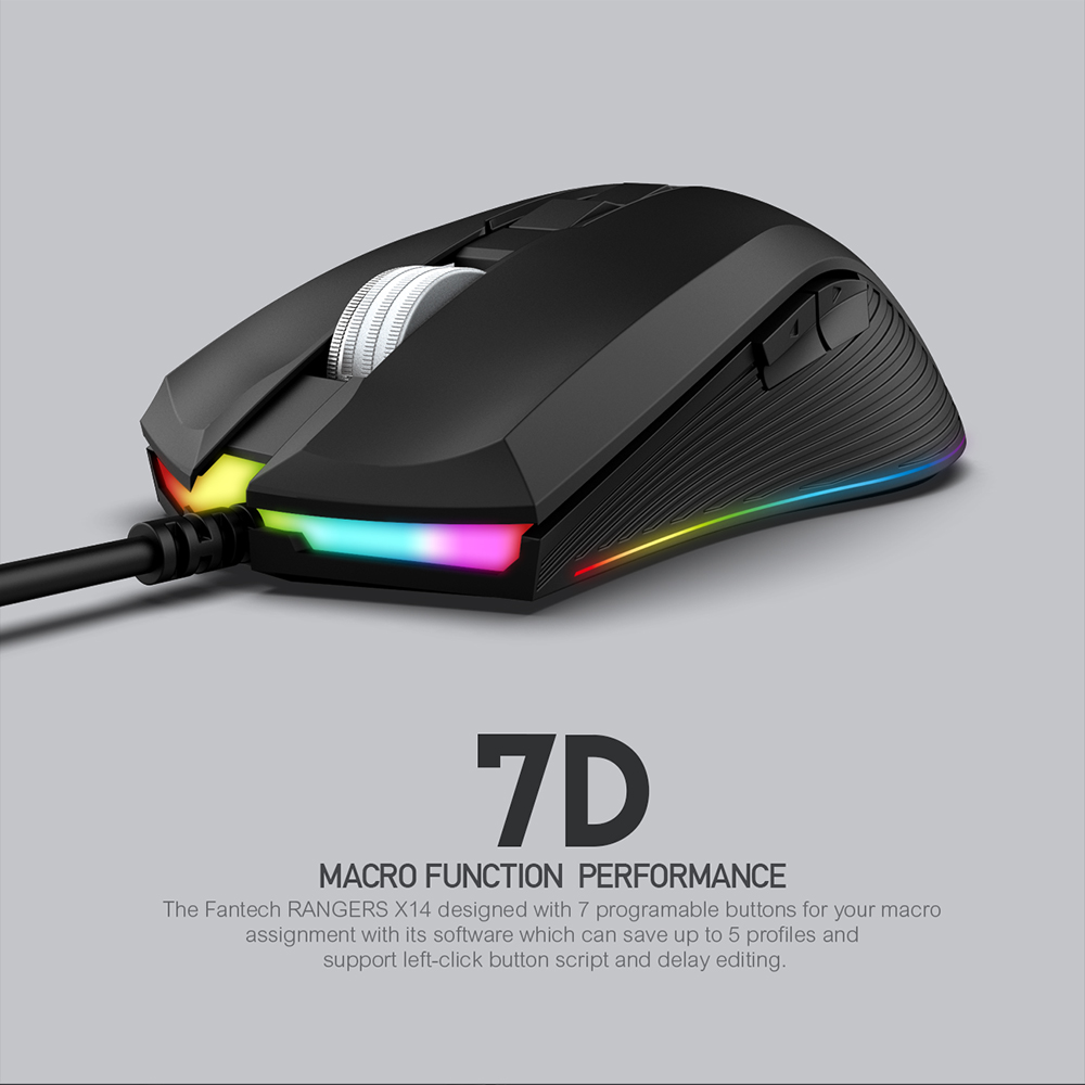 Image 4 - FANTECH X14 Optical Adjustable 4800 DPI 7D Macro Professional Wired Gaming Mouse For Mouse Gamer Essential Ergonomic Mouse Mice-in Mice from Computer & Office
