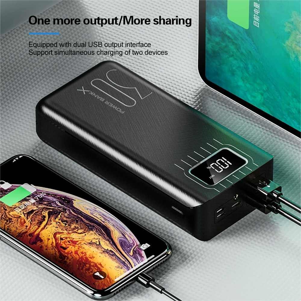 50000 MAh Di Động Ngân Hàng Điện Pin Dự Phòng Sạc Sạc Dự Phòng Powerbank USB Sạc Điện Thoại Di Động Poverbank Cho Samsung S20 S10 9