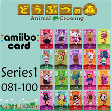 Пересечение животных подлинных данных новые горизонты игры Марио карты для NS переключатель 3DS игра набор NFC карт Ряд1 081-100 матовый материал