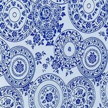 75x100 см синий и белый фарфор дизайн Элегантный узор парча полиэстер жаккардовые ткани для китайской одежды