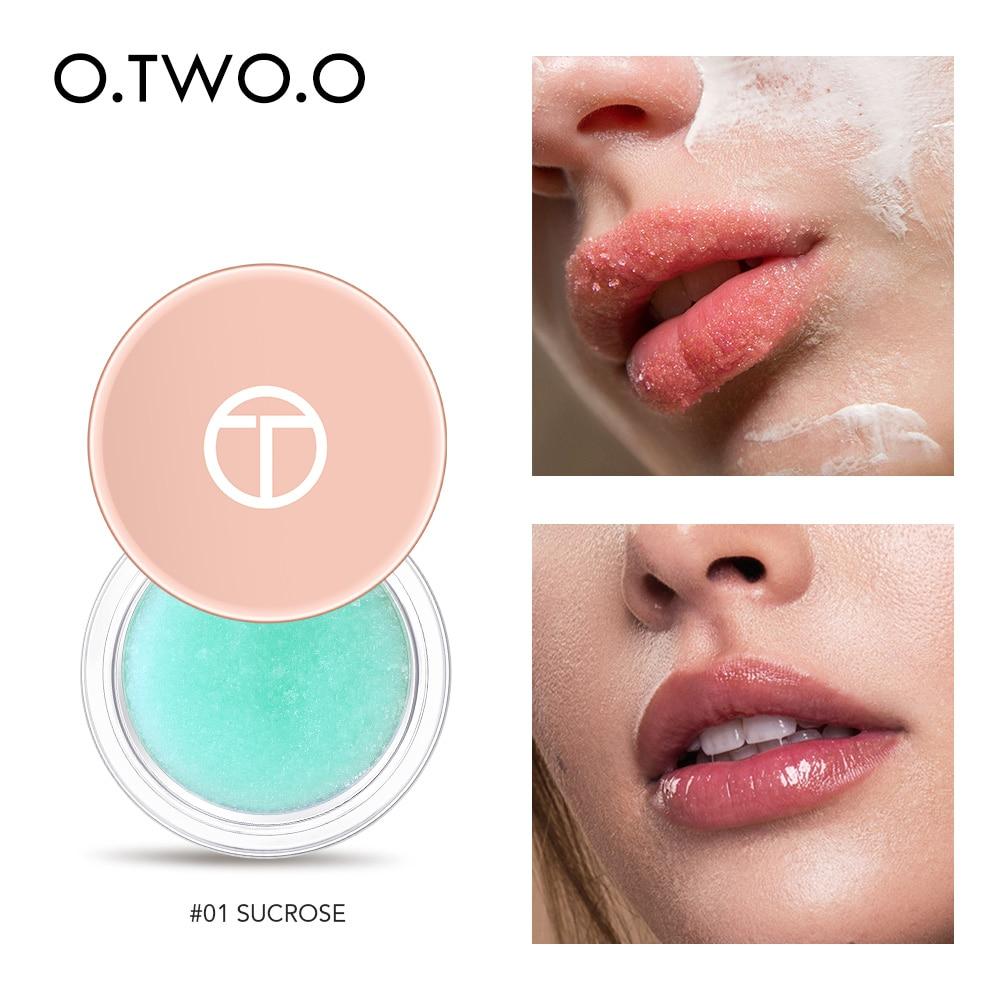 O.TWO.O Honey And Milk Lip Scrub Lips Moisturizing Full Lip Plumper Cosmetics Remove Dead Skin Lip Balm Skin Care Lips Makeup