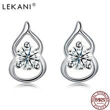 Lekani серьги для женщин 925 стерлингового серебра в форме тыквы