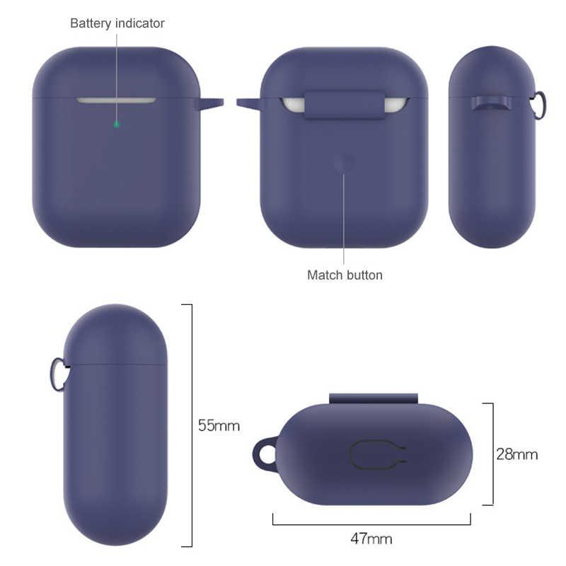 ل Airpods 2 TWS زجاجة من السيليكون قابلة للطي الحال بالنسبة سماعة لاسلكية تعمل بالبلوتوث سماعة واقية غطاء مكافحة خسر سماعة صندوق الملحقات
