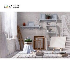 Image 4 - Laeacco cinza velho casa rural móveis decoração de casa do bebê pet retrato interior foto fundos foto pano de fundo para estúdio foto