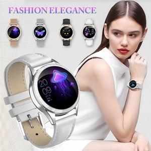 Image 3 - KW20 สมาร์ทนาฬิกาผู้หญิงIP68 กันน้ำHeart RateการตรวจสอบบลูทูธสำหรับAndroid IOSฟิตเนสสร้อยข้อมือSmartwatch