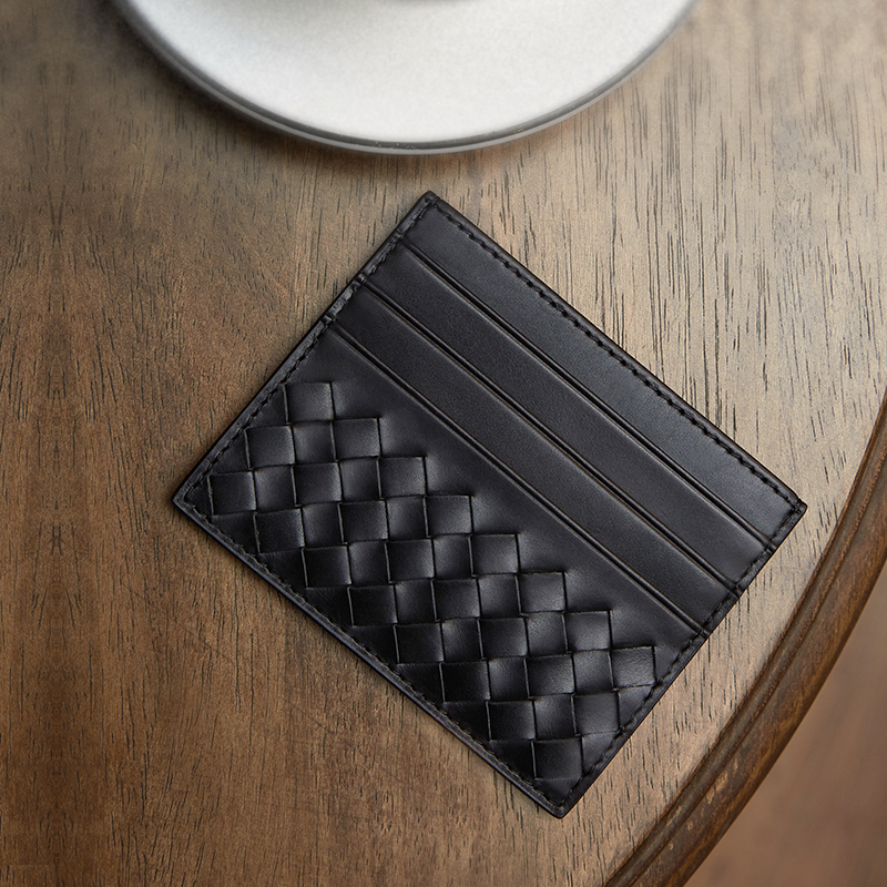 100% Leather Credit Card Men's Ultra-Thin Brand Business Card Multiple Card Slots Anti-Degaussing Simple Fashion Women Card Bag