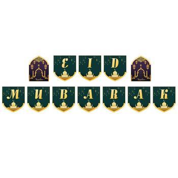 Eid mubarak Banner trznadel Ramadan artykuły do dekoracji imprez do dekoracji wnętrz tanie i dobre opinie noroomaknet Banery Tak ( 50 sztuk) Party HALLOWEEN Wielkanoc