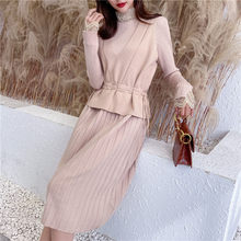 2019 Time-limited Pullover Cardigan Feminino Blusas De Inverno Feminina The New Film 9495 2 Woolly Hair Lace Dress Lady Of 85(China)