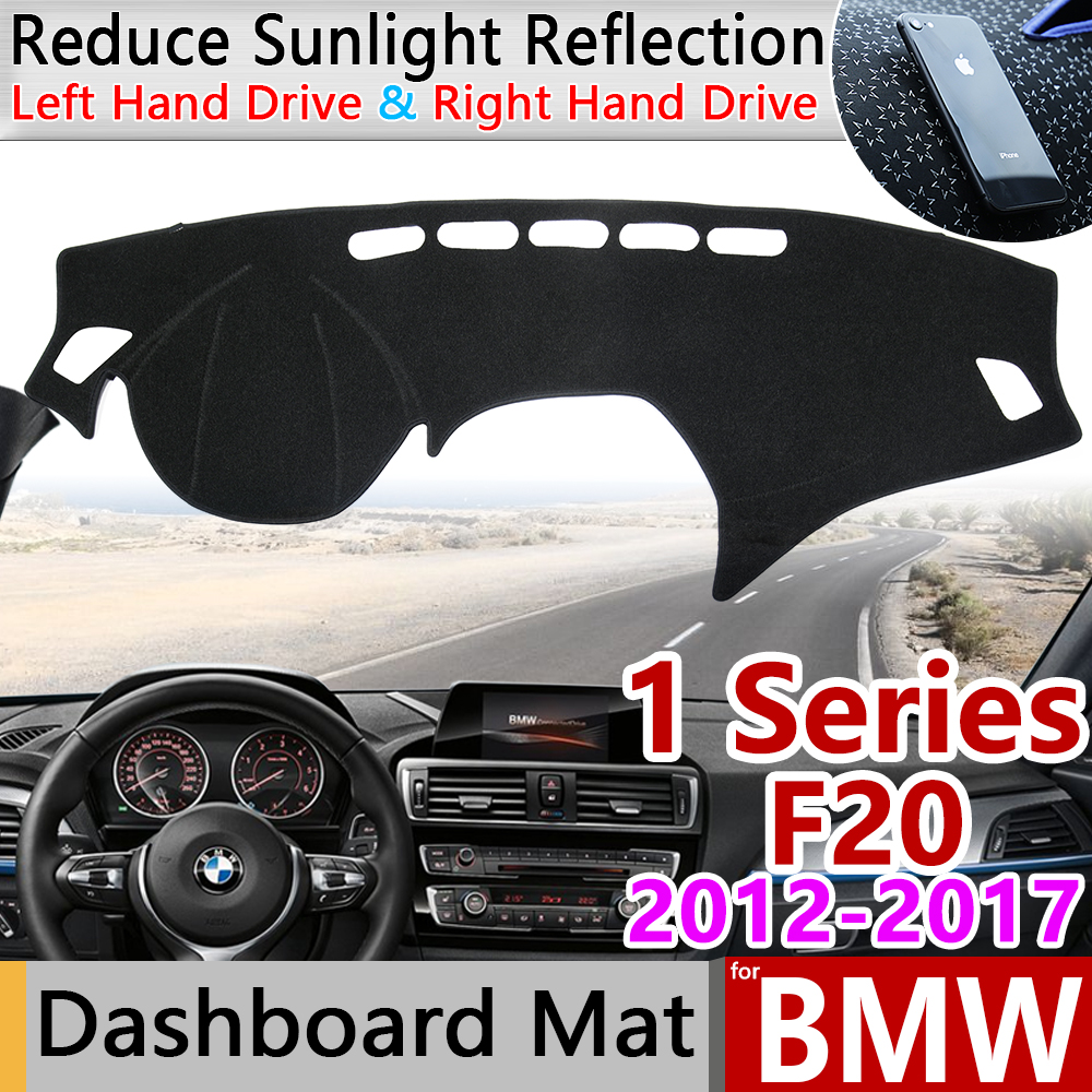 For BMW 1 Series F20 2012~2017 Anti-Slip Anti-UV Mat Dashboard Cover Pad Dashmat Protect Carpet Accessories 116i 118i 120i 125i