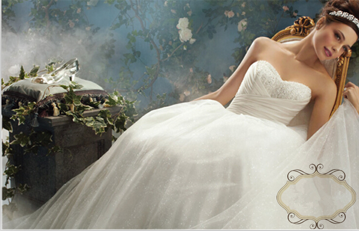 Vestidos Real-picture 2015 A-line Sweetheart Wedding Dress Brides Bridal Gown New Sexy Hot Long Beading Sequined