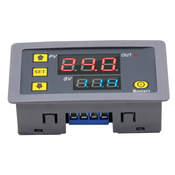 Relé Digital de retardo de tiempo, relé temporizador CA, 110V, 220V, 12V, doble pantalla LED, relé de sincronización ajustable, interruptor de retardo de tiempo 1