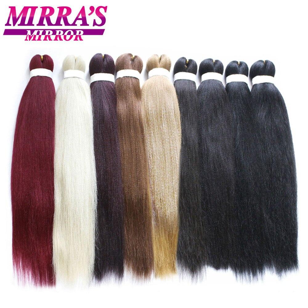 Зеркальные легко растягивающиеся косички Mirra's Jumbo, волосы для плетения Омбре, удлинители волос, синтетические волосы для вязания крючком