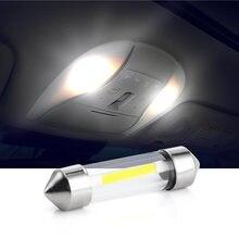 10 Uds 12V C5W COB bombillas Led de coche festón Interior luz de techo de lectura fuente de lado Blanco lámpara de placa de matrícula 41mm 39mm 36mm 31mm