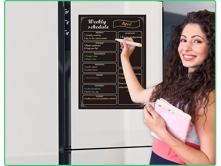 geladeira quadro etiqueta agenda semanal planejador do
