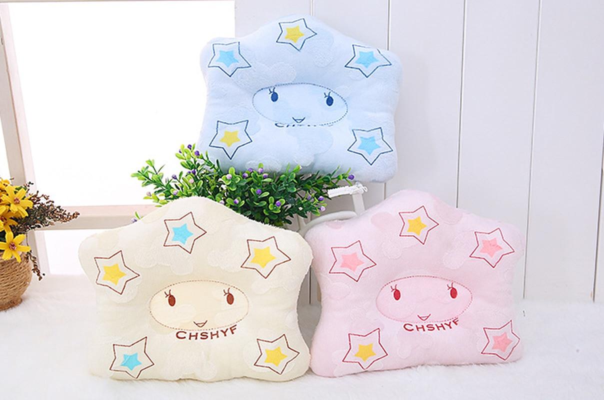 Bebé conformación almohada para Recién Nacido dormir apoyo cóncavo de dibujos animados almohada impreso forma cojín previene la cabeza plana decoración de la habitación