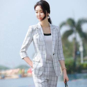 2020 Fashion Female Elegant Business Pant Suits Office Uniform Formal OL Long Pant Blazer And Pants  2 Piece Set Jacket Trousers uniform business pant suits formal jacket and pant blazer set women office lady 2 two pieces suits uniform ka1089