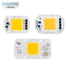 High Brightness LED Chip Dimmable 220V 50W 30W 20W COB LED Lamp Bulb Not Need Driver LED Light Bead DIY For Spotlight Floodlight